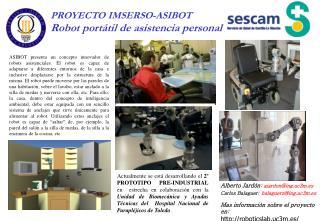 PROYECTO IMSERSO-ASIBOT Robot portátil de asistencia personal