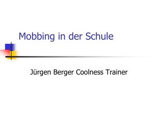 Mobbing in der Schule