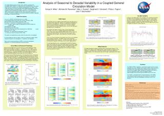 Analysis of Seasonal to Decadal Variability in a Coupled General Circulation Model
