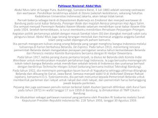 Pahlawan Nasional : Abdul  Muis