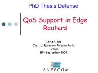 QoS Support in Edge Routers