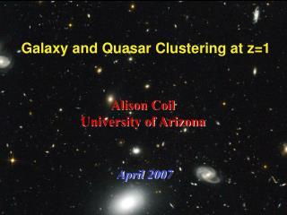 Galaxy and Quasar Clustering at z=1