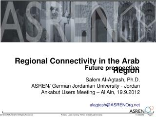 Regional Connectivity in the Arab Region