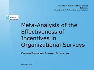 Meta-Analysis of the  Effectiveness  of Incentives in Organizational Surveys