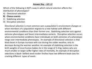Answer Key – LO 1.2