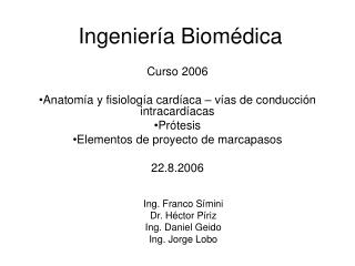 Ingenier a Biom dica