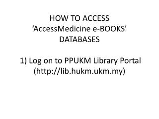 McGraw-Hills Access Medicine Main Page