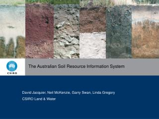 The Australian Soil Resource Information System