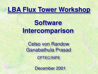 LBA Flux Tower Workshop