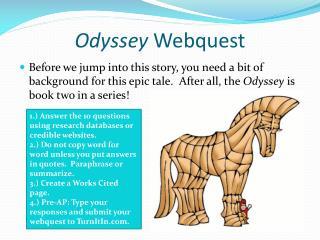 Odyssey Webquest
