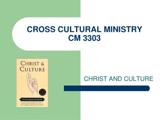 CROSS CULTURAL MINISTRY CM 3303