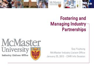Fostering and Managing Industry Partnerships