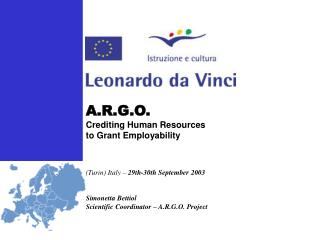 A.R.G.O.  Crediting Human Resources  to Grant Employability