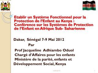 Dakar,   Sénégal 7-9 Mai 2012               Par
