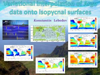 Variational  interpolation of Argo data onto  isopycnal  surfaces