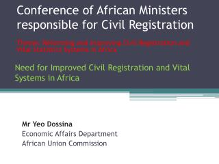 Conference of African Ministers responsible for Civil Registration
