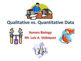 Honors Biology  Mr. Luis A. Velázquez