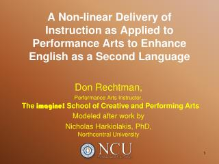 Don Rechtman, Performance Arts Instructor, Modeled after work by
