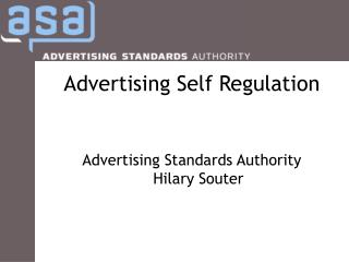 Advertising Self Regulation