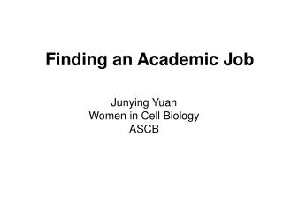 Finding an Academic Job