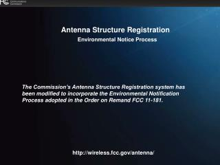 Antenna Structure Registration