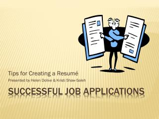Successful job applications