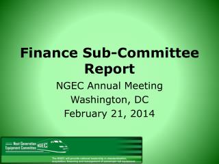 Finance Sub-Committee Report