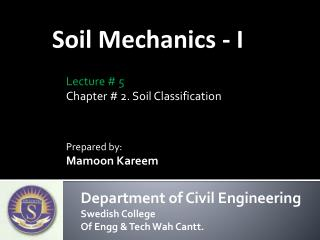 Soil Mechanics - I