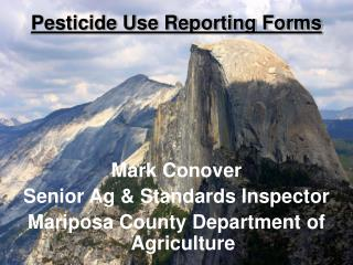 Pesticide Use Reporting Forms