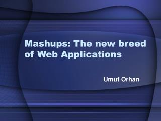 Mashups: The new breed of Web Applications