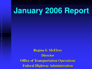 January 2006 Report