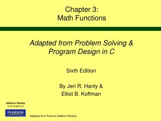 Chapter 3: Math Functions
