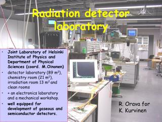 Radiation detector laboratory