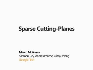 Sparse Cutting-Planes