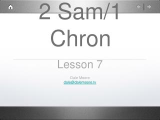 2 Sam/1 Chron