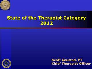 State of the Therapist Category 2012