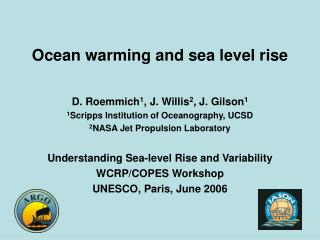 Ocean warming and sea level rise
