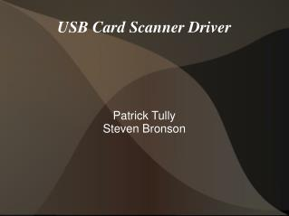 USB Card Scanner Driver