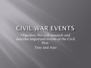 Civil War Events