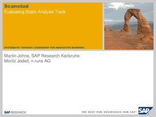 Scanstud Evaluating Static Analysis Tools