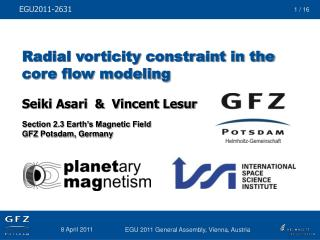 Radial vorticity constraint in the core flow modeling