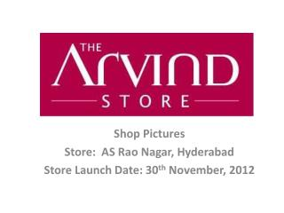 Shop Pictures Store:  AS  Rao  Nagar, Hyderabad Store Launch Date: 30 th  November, 2012