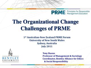 The Organizational Change Challenges of PRME