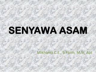 SENYAWA ASAM