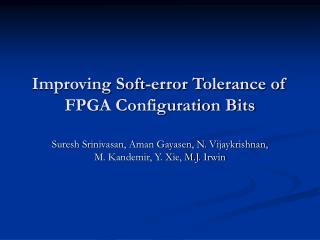 Improving Soft-error Tolerance of FPGA Configuration Bits