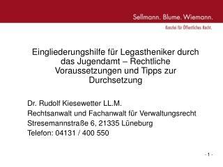Aufbau Vortrag: Voraussetzungen � 35 a SGB VIII und Antragsverfahren Selbstbeschaffung