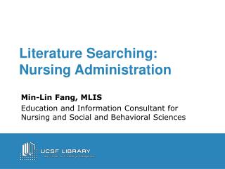 Literature Searching: Nursing Administration