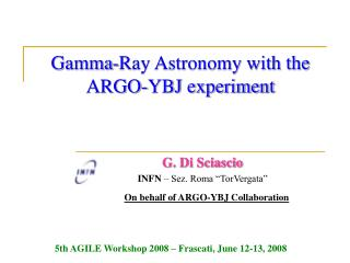 Gamma-Ray Astronomy with the ARGO-YBJ experiment