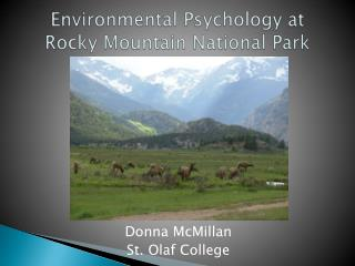 Environmental Psychology at  Rocky Mountain National Park