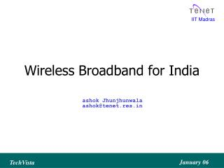 Wireless Broadband for India